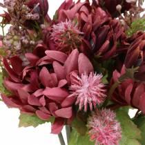 Crisantemo Bouquet Mix Viola 35 cm