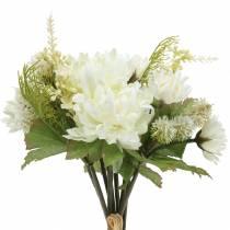 Crisantemo Bouquet Mix bianco 35 cm