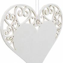 Decorazione cuore da appendere, decorazione matrimonio, ciondolo cuore in legno, decorazione cuore, San Valentino 12 pezzi