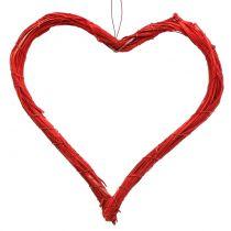 Bast cuore per appendere rosso 20 cm 6 pezzi
