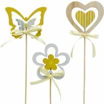 Fiore e cuore della farfalla della spina decorativa, decorazione della molla, spina del fiore, San Valentino 9 pezzi