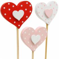 Spina decorativa cuore, decorazione matrimonio, decorazione floreale per San Valentino, decorazione cuore 24 pezzi