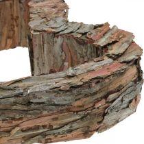 Deco cuore legno corteccia di pino 40 × 32 cm