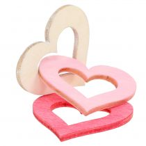 Hearts to scatter Pink, Pink, Nature 4cm 72pcs