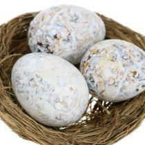 Assortimento di uova d'oca, pollo e quaglie 3,5 cm - 8 cm 12 pezzi