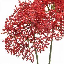 Fiore artificiale rosso sambuco per bouquet autunnale 52 cm 4 pezzi