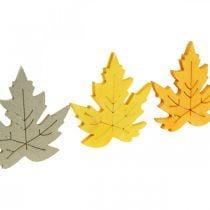 Cospargere la decorazione autunnale, foglie d'acero, foglie autunnali dorate, arancioni, gialle 4cm 72p