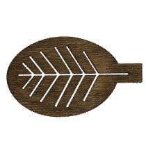 Foglie di legno ordinate 4 cm natura 72 pezzi