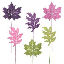 Mix di foglie in legno come spina 8 cm L30 cm Erika, verde 12 pezzi
