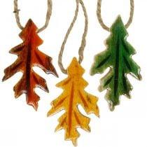 Foglie decorative in legno da appendere Decorazioni autunnali colorate 6,5 × 4 cm 12 pezzi