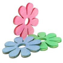Fiore in legno per diffusione rosa, verde, blu Ø4cm 72 pezzi