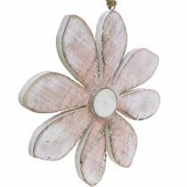 Fiori decorativi pastello, fiori estivi, fiori di legno, decorazioni floreali da appendere Ø12,5cm 3 pezzi