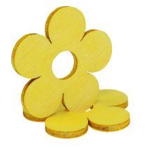 Fiori in legno Ø4cm giallo 72 pezzi