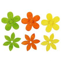 Fiori in legno 4 cm colori assortiti 72St