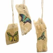 Ciondolo legni con farfalla 8-13 cm 36 p