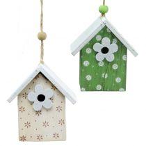 Casetta per uccelli decorativa da appendere 8 cm 6 pezzi