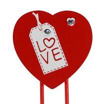 """Clip in legno cuore """"Love"""" cuore decorativo regalo di San Valentino 2pz"""