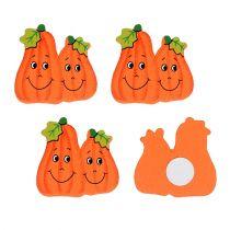 Zucche di legno da incollare 2,5 cm arancione 18 pezzi