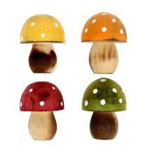 Funghi in legno decoro cospargere 3cm assortiti 24 pezzi