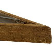 Ciotola di legno per piantare la natura 79 cm x 14 cm x 7,5 cm