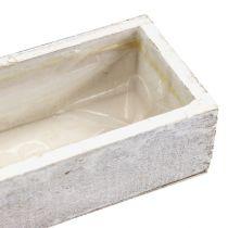 Ciotola in legno per piantare bianco 30 cm x 9 cm x 6 cm