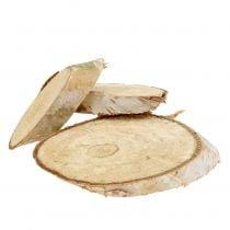 Fette di legno di betulla ovale 5cm - 20cm 500g
