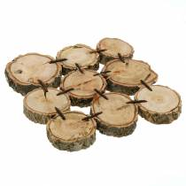 Sottobicchiere decorativo, fette di legno, naturale 22 × 22 cm