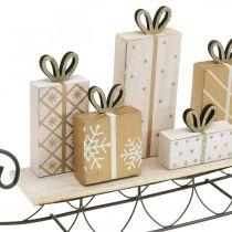 Slitta con regali, Avvento, addobbi per Natale L37.5cm H23cm