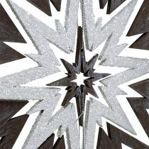 Stella in legno da sospendere Grigio, bianco 48 cm x 40 cm
