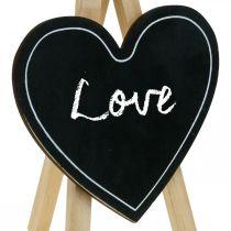 Tavola di legno, decorazione di nozze, cuore di lavagna, decorazione San Valentino, bordo decorativo 6 pezzi