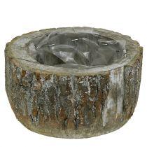 Vaso in legno bianco lavato Ø20cm H10cm