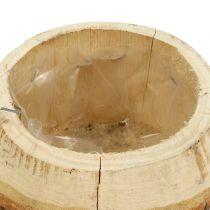 Vaso in legno per piantare natura Ø14cm