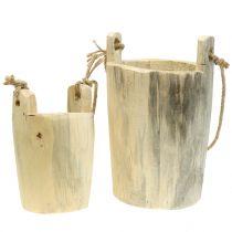 Vaso in legno per appendere la natura 2 pezzi