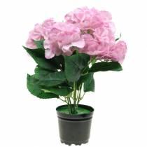 Ortensia in una pentola Rosa artificiale 35cm