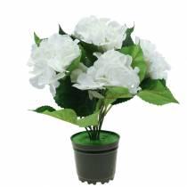 Ortensia in vaso di fiori Artificial White 35cm