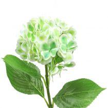 Ortensia verde artificiale, bianca 68 cm