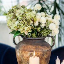 Mazzo di ortensie artificiale verde, marrone 5 fiori 48cm
