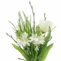 Bouquet artificiale con giacinti e tulipani 34cm