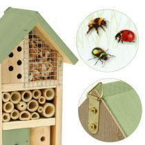 Insetto hotel in legno verde nidificazione giardino casa per insetti H26cm