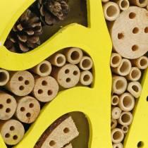 Hotel per insetti rotondo giallo Ø25cm