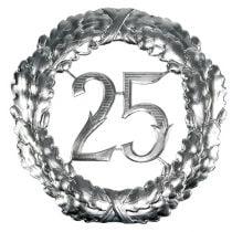 Numero anniversario 25 in argento Ø40cm
