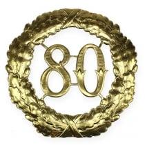 Numero anniversario 80 in oro Ø40cm