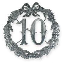 Numero anniversario 10 in argento