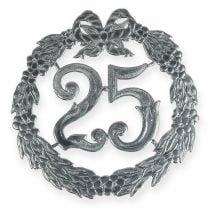 Numero anniversario 25 in argento