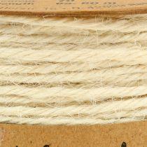 Cordone di iuta bianco Ø2mm 100g