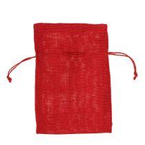 Sacchi di iuta rossi 16 cm x 24 cm 10 pezzi