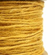 Cordone di iuta giallo Ø2mm 50m