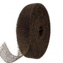 Nastro di iuta marrone 5 cm 40 m