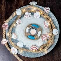 Cordoncino di iuta con conchiglie e ristorante di pesce decorativo a LED da 200 cm