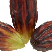 Cacao frutta decorazione artificiale vetrina viola-verde 17cm 3 pezzi